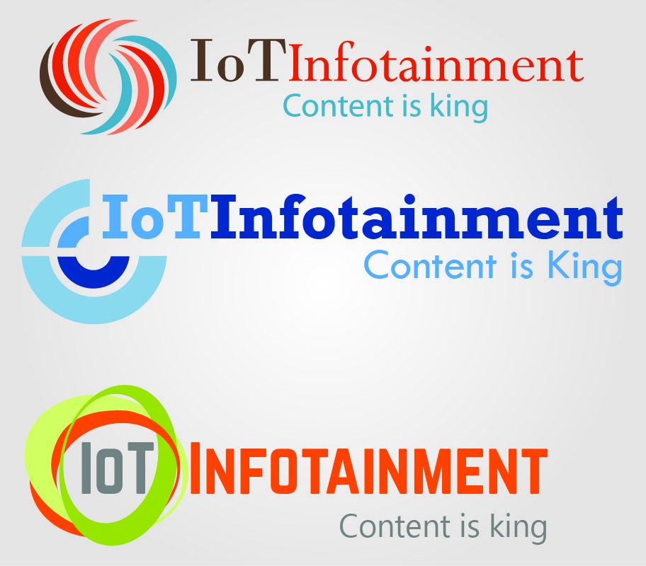 IoT Infotainment Logo Design