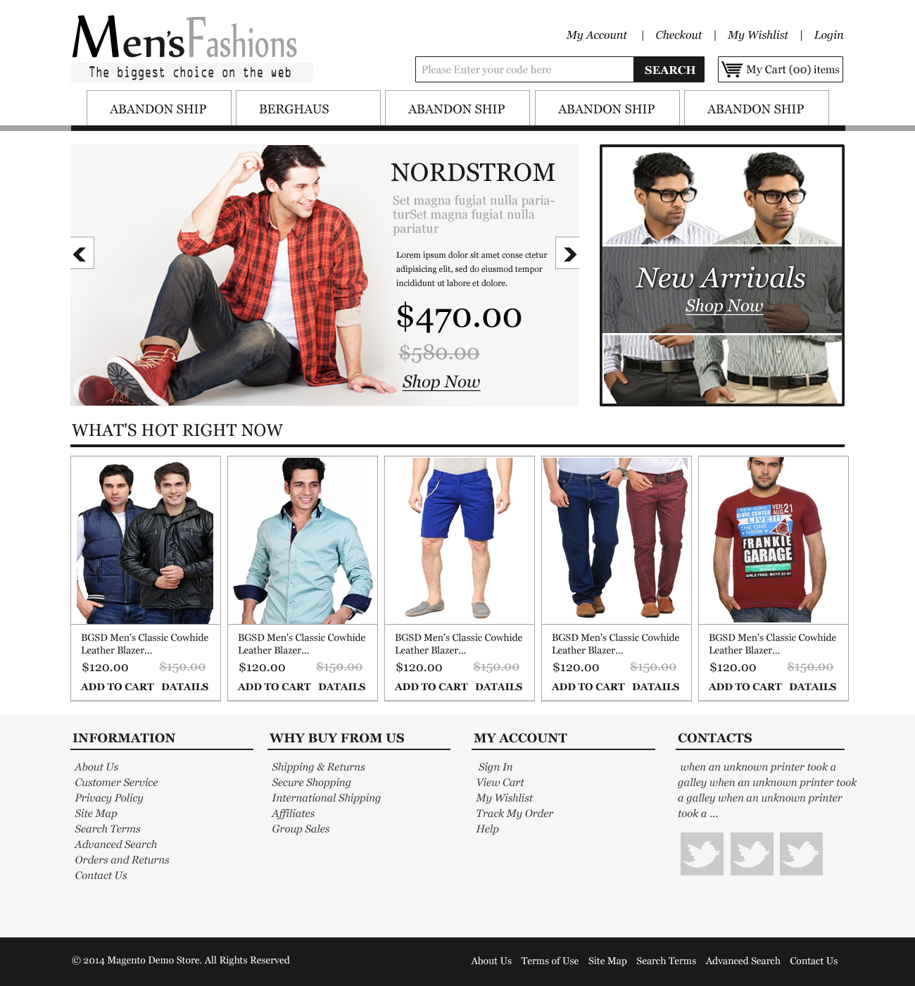 Ecommerce template for Garments Store